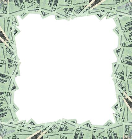 20 dollar bills frame