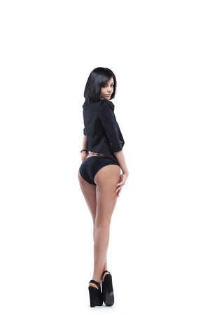 Sensual woman in black photo