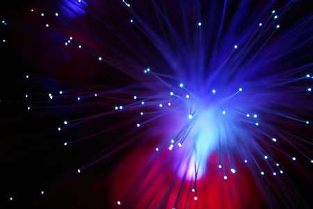fiber optics: Bunch of illuminated fiber optics