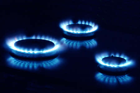 Close-Up of a Gas Burner Stock Photo - 683257