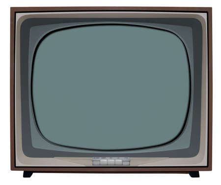 cultural artifacts: Old nostalgic TV with clipping path inside and outside