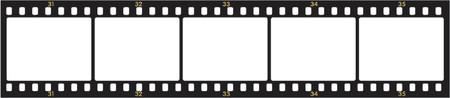 Vector de imagen de los números negativos fotogramas  Foto de archivo - 839290