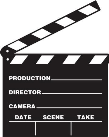 Front view of film clap board in vector Vector