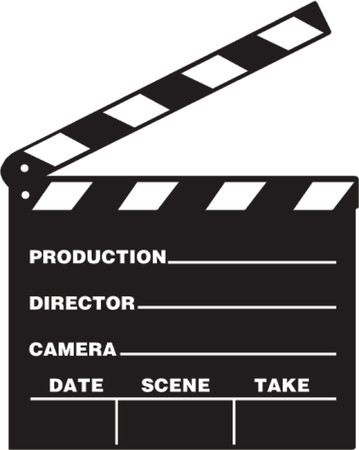 Front view of film clap board in vector Stock Vector - 839286