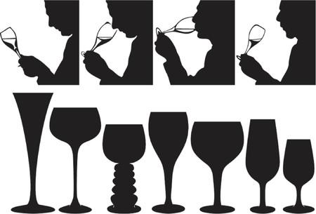 Sommelier tasing Wein