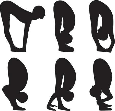 Yoga Obeisance practice Vector