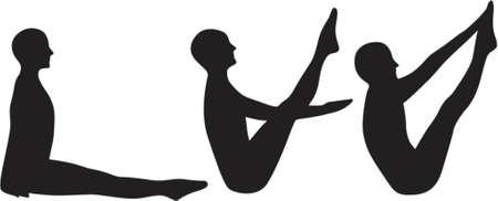 Yoga Boat practice Vector
