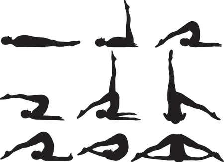 Yoga Plow practice Vector