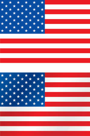 spangled: Acurate and brushed USA flag Illustration
