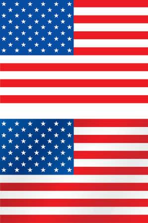 Genaue und gebürstet USA Flagge