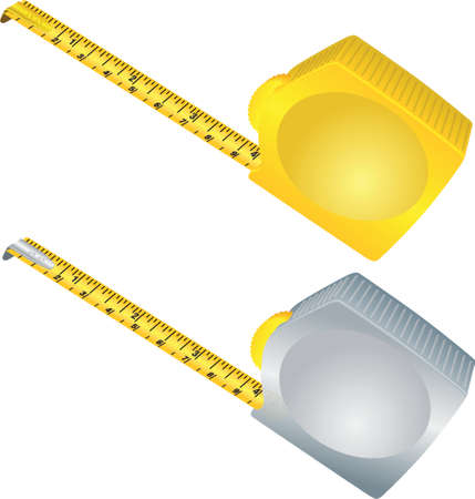 Silver and gold measure meter over white Stock Vector - 902947