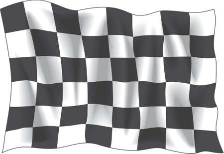 bolide: Race finish flag isolated on white background