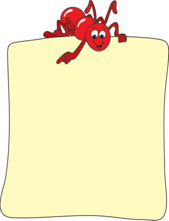 red ant: Red ant showing where to post you message