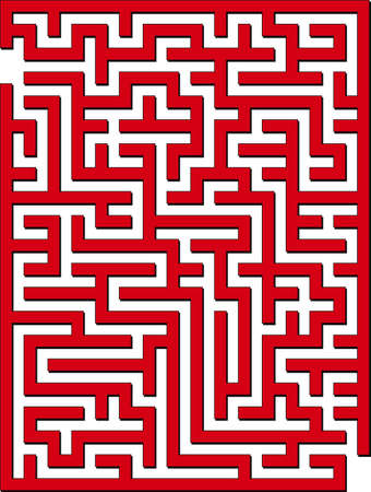 Find the way out from this maze Stock Vector - 1558499