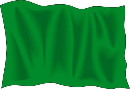 Waving green flag Vector