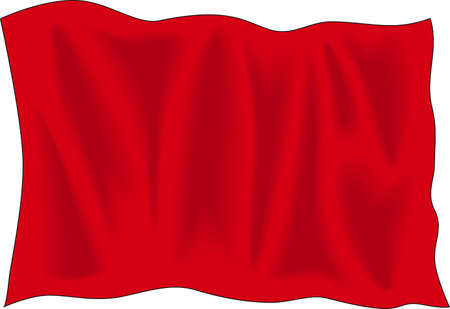 Waving red flag Vector