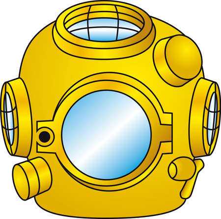 Vintage underwater helmet Stock Vector - 1747080