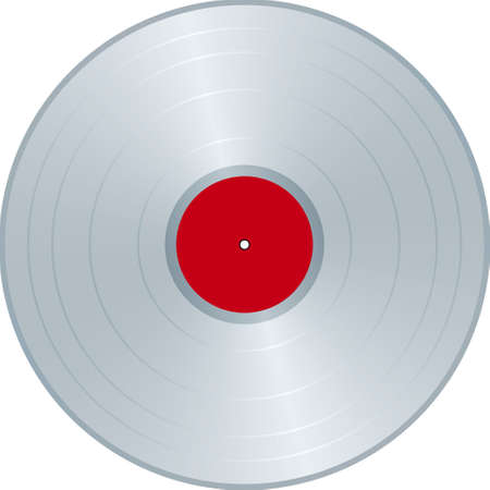 Platinium LP label Vector
