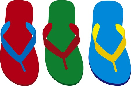 Design you own flip-flops with this template Vector