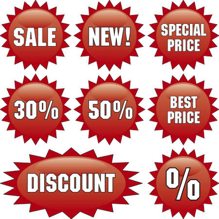 Vector template of discount labels