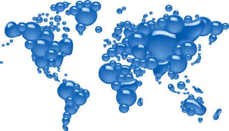 Concept of bubble world Vector