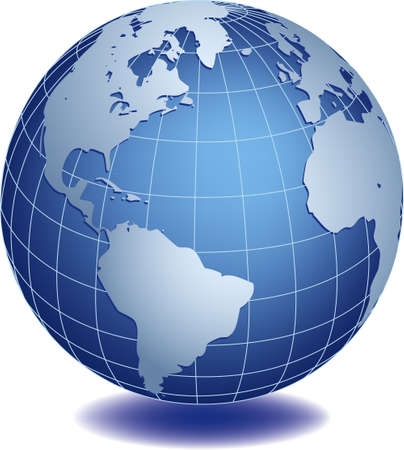 Vector illustration of world globe Stock Vector - 3039244