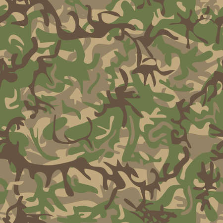 Seamless military pattern for textile industry Vector