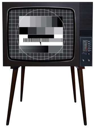 Old vintage TV over a white background Stock Photo - 3088329