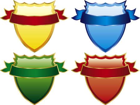 Vector illustration of shields Stock Vector - 3096916
