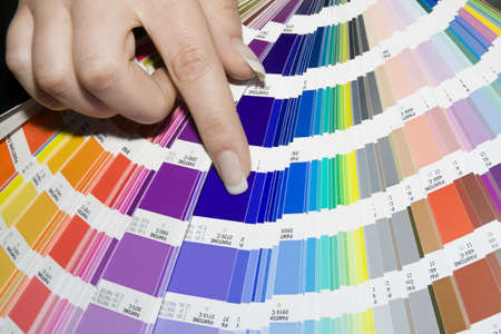 descriptive colour: Prepress color scale Stock Photo