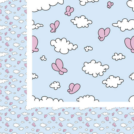 softly: Seamless vector illustration of clouds