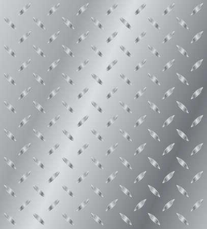 shiny floor: Vector illustration of torsion metal plate Illustration