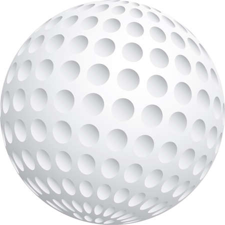 hole in one: Vector illustration of golf ball