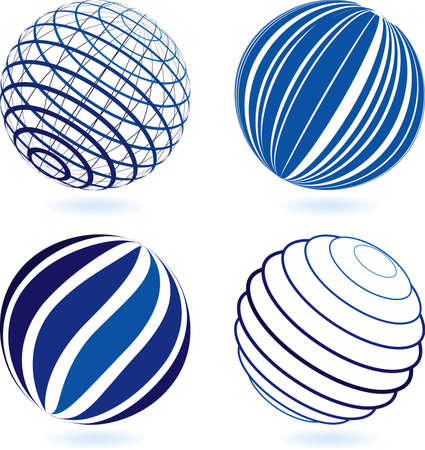 abstract globe: Choose you new logo Illustration