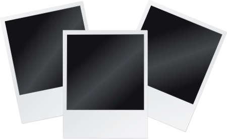 Vector illustration of blank polaroid frames