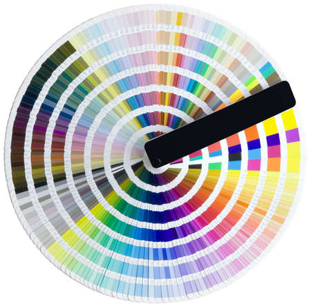 descriptive color: Color circle isolated with clipping path