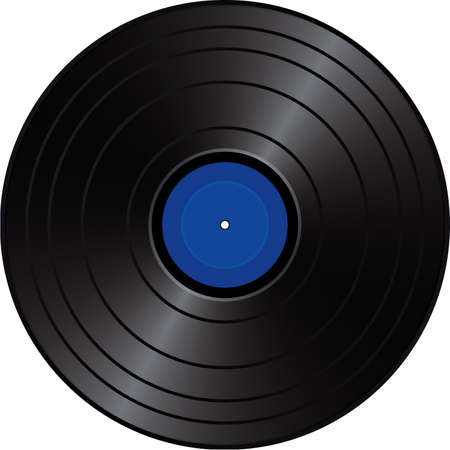 vibe: Vector illustration of old vinyl record