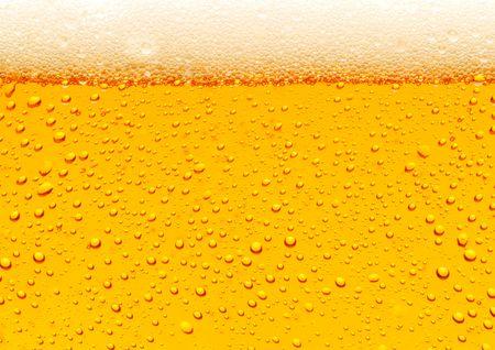 glass of beer: Close-up van het bier bubbels Stockfoto