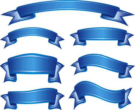 Set of blue ribbons Stock Vector - 3717358