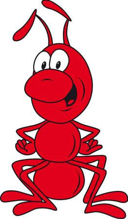 red ant: Red de hormigas dispuestos en plantear