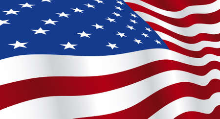Wide screen background of USA flag Stock Vector - 3754764