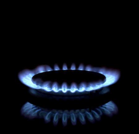 Close up of a gas burner photo