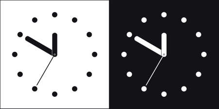 Two simple clocks Stock Vector - 3814182