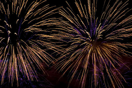 Fireworks on the dark night sky Stock Photo - 3853158
