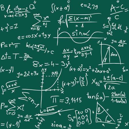 matematica: Ilustraci�n vectorial de las matem�ticas de fondo sin fisuras