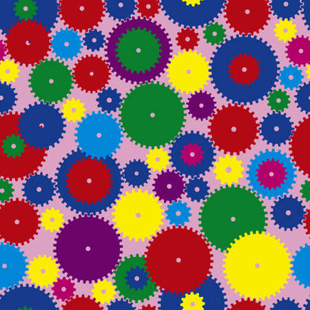Colorfull Seamless gears Vector