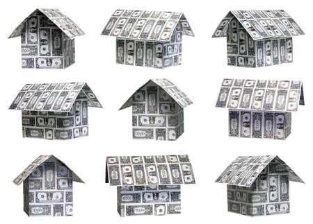 Nueve diferentes �ngulos de las casas d�lar Foto de archivo - 4410107