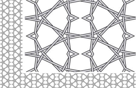 Seamless knitted wire pattern Vector