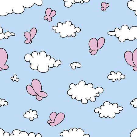 cartoon clouds: Perfecta ilustraci�n vectorial de las nubes