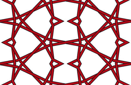 Repeatable Seamless knotted wire pattern isolated on white background Vector